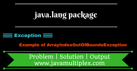 Demo of ArrayIndexOutOfBoundsException present in java.lang package.