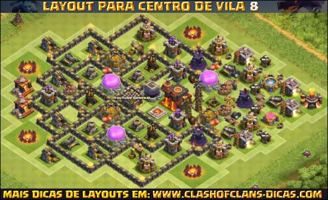 Layout Centro de Vila 8 Clash of Clans - TH8 Update