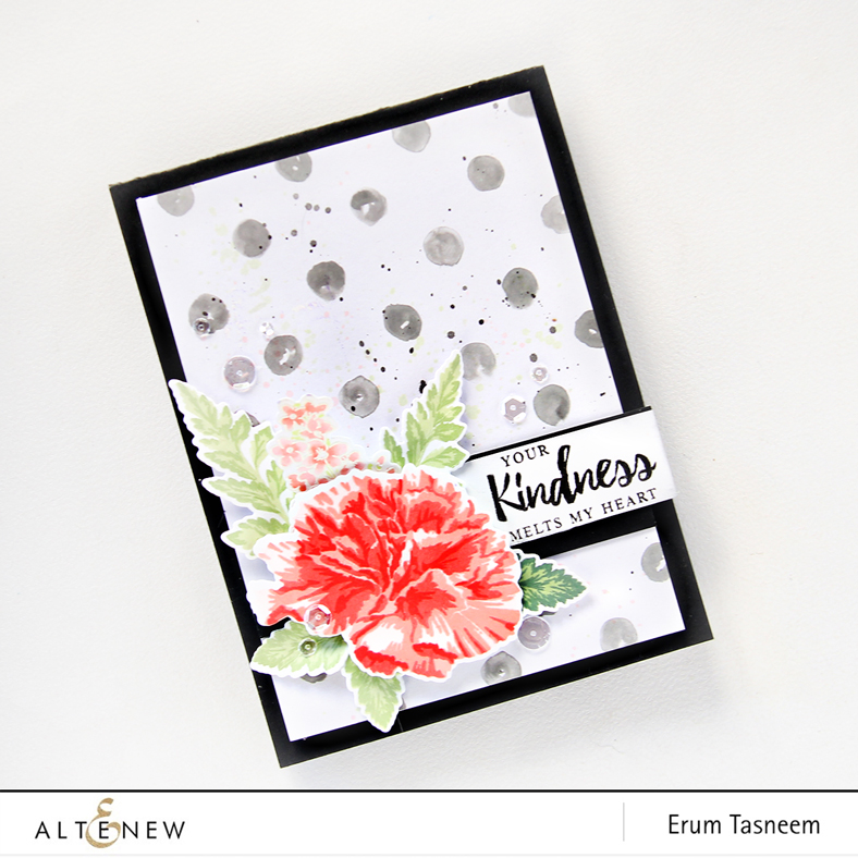 Altenew Build-A-Flower Carnation | Erum Tasneem | @pr0digy0