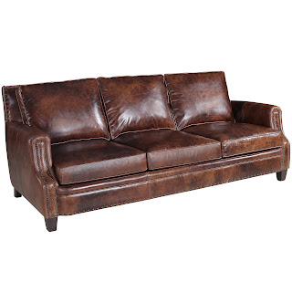 Brwon Leather sofa from Hooker Furntiure at Baers
