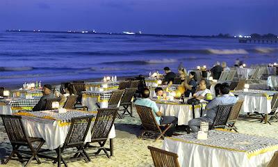 Matahari Terbenam dan Seafood di Wisata Pantai Kedonganan Bali