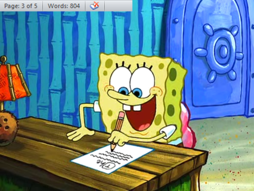 Spongebob writes an essay full episode