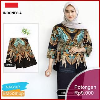 NAG107 Blouse Batik Motif Ratu Kasultan Seragam Batik Murah Bmgshop
