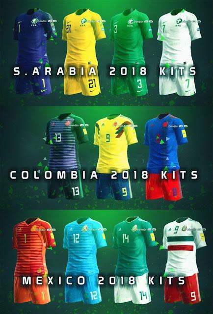 National Teams 2018 Kitpack V2 PES 2013