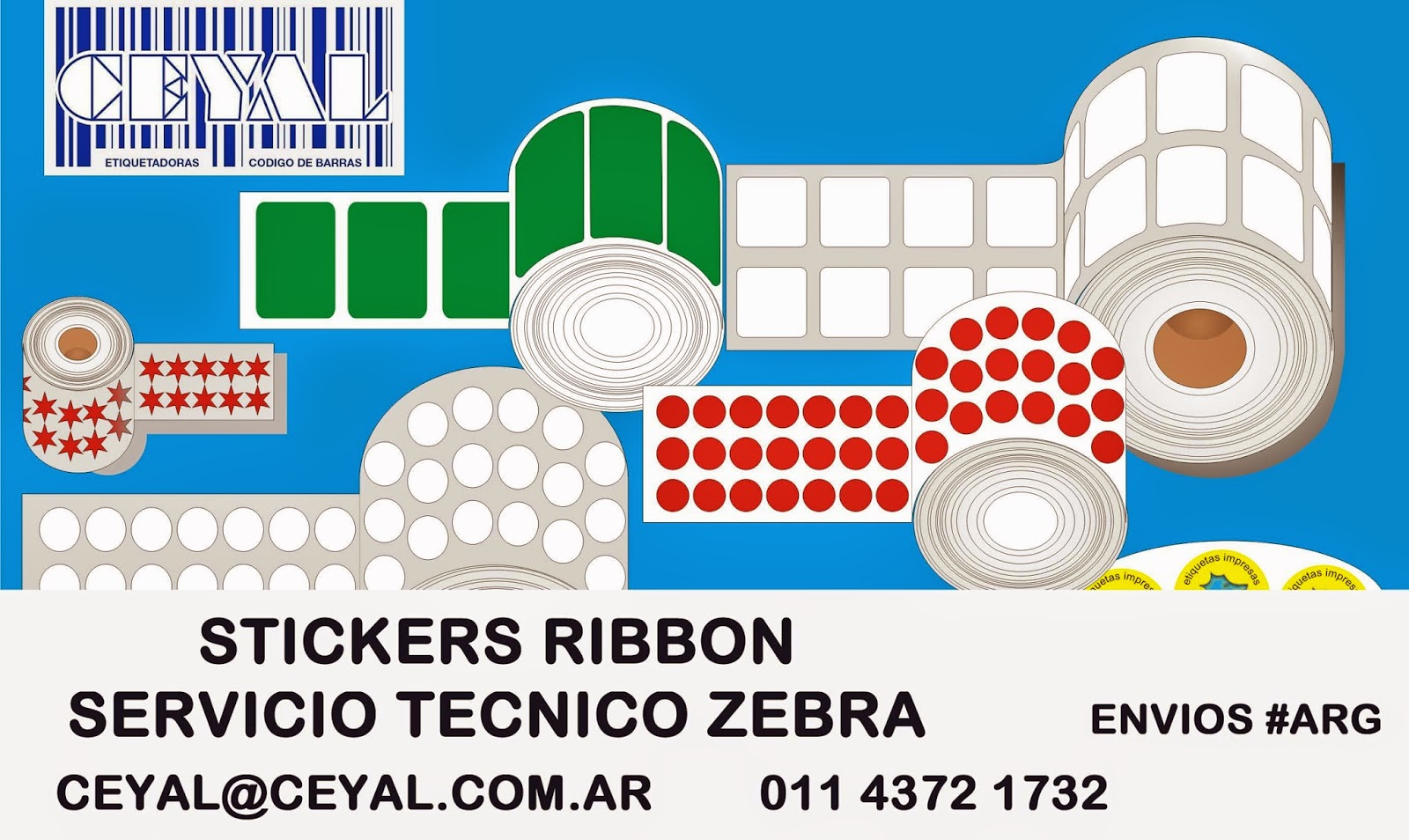 Rollos Etiquetas Impresoras Zebra Sato Datamax Intermec BsAs Arg