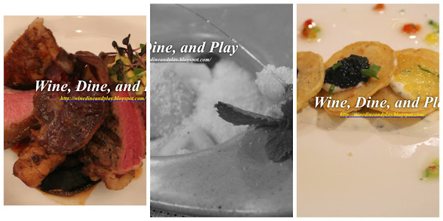 Assorted food dishes from restaurants on Wine Dine And Play