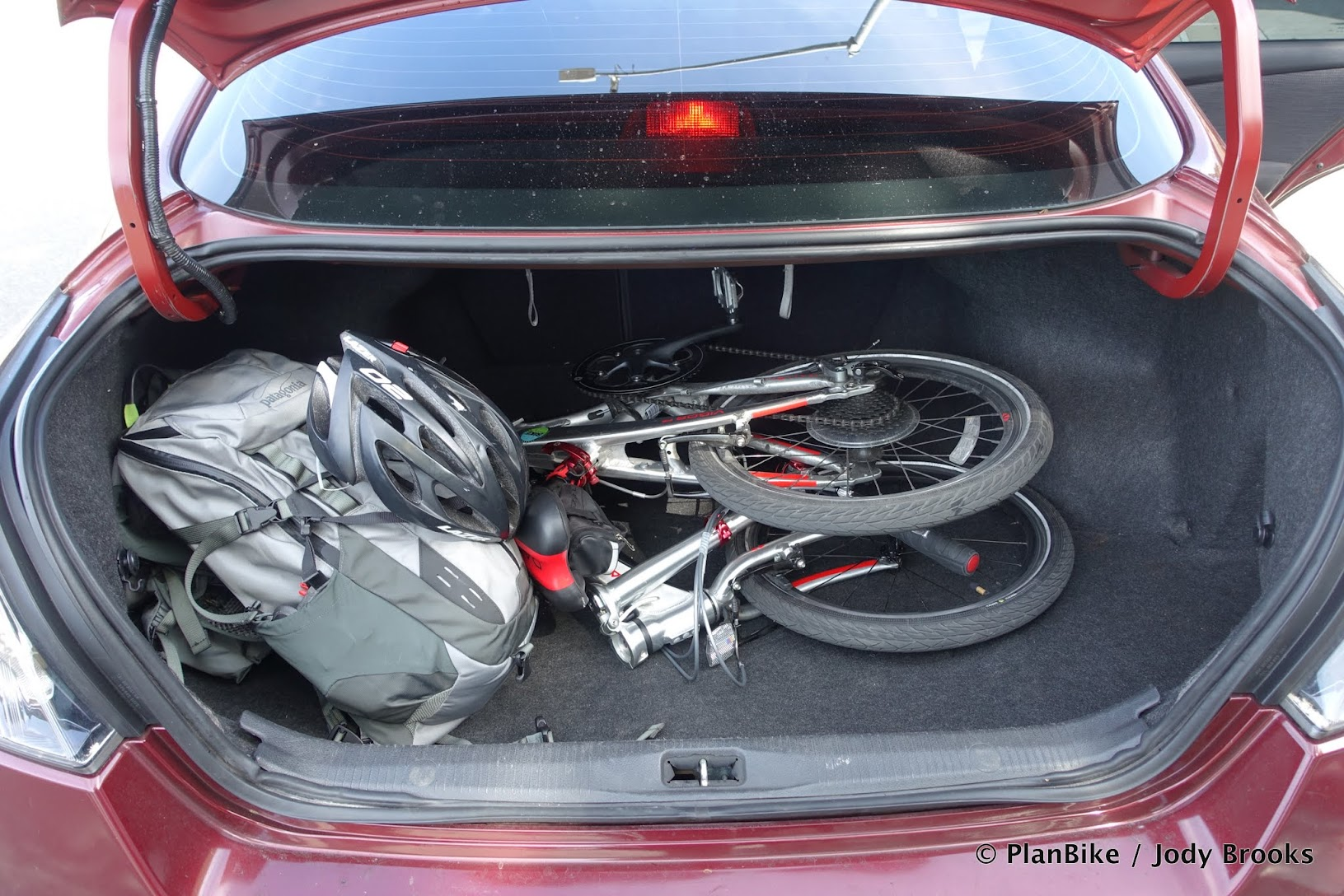 Folding Bikes easily fit in cars.
