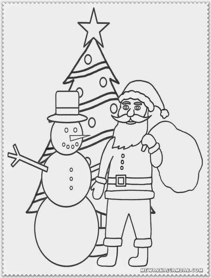 Christmas Coloring Pages Of Santa