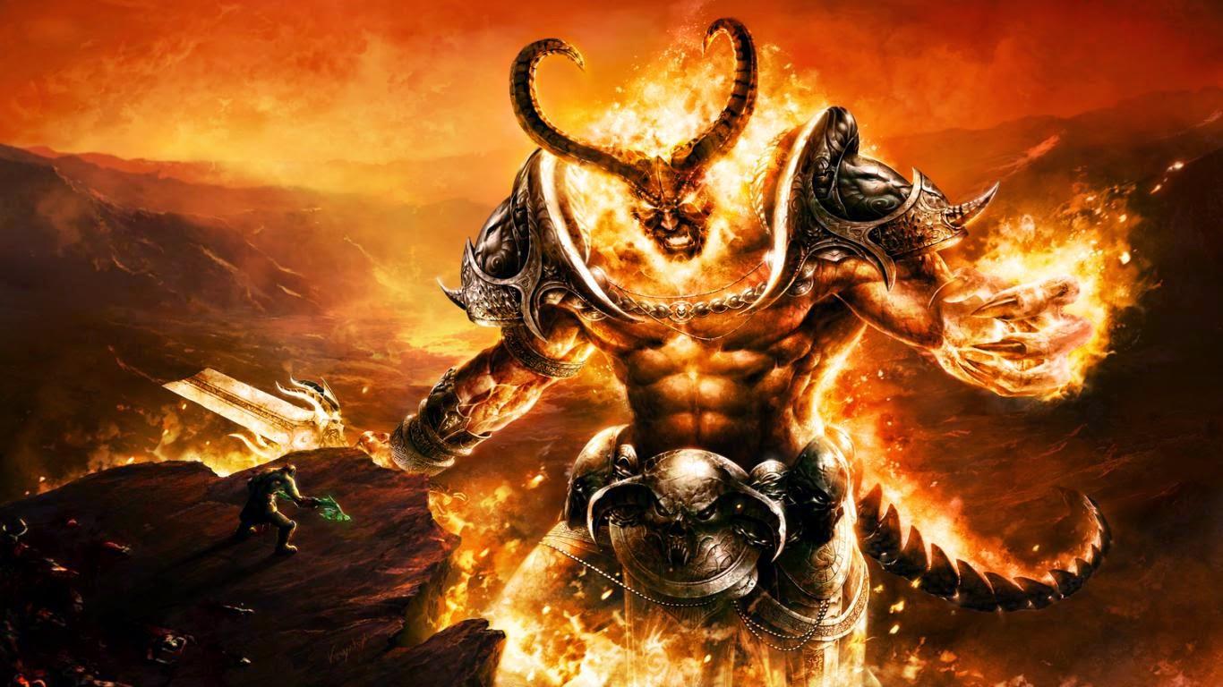 Cool wallpaper - Fired Monster ~ Free 4D Wallpaper
