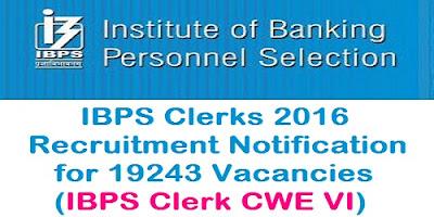 IBPS Clerks CWE 6