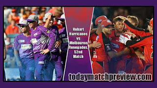 Today BBL T20 52nd Match Prediction Renegades vs Hobart Dream 11 Tips