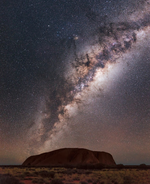 Milky Way over Uluru