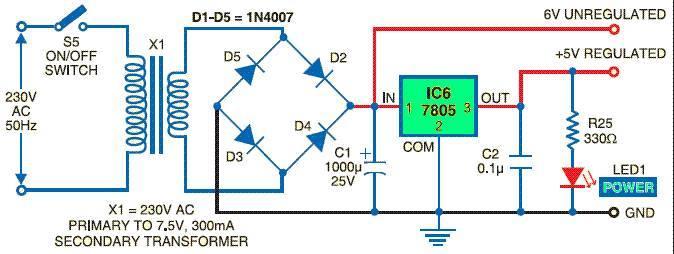 5v dc power supply electrical engineering books. Black Bedroom Furniture Sets. Home Design Ideas