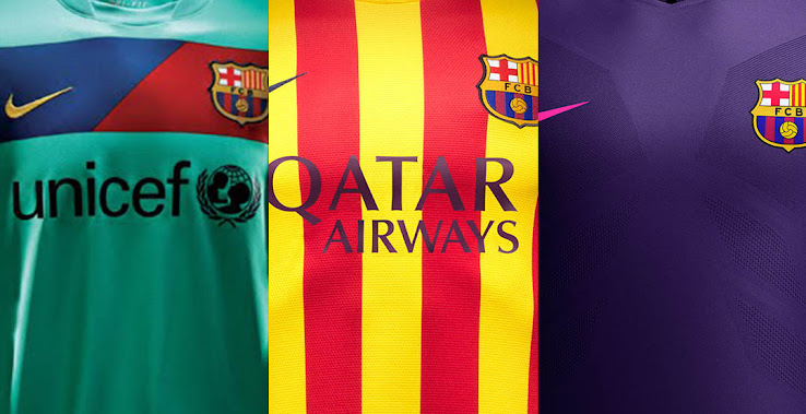 54ffdbc9d Which Is The Best  Here Are All Nike FC Barcelona Away Kits From The ...
