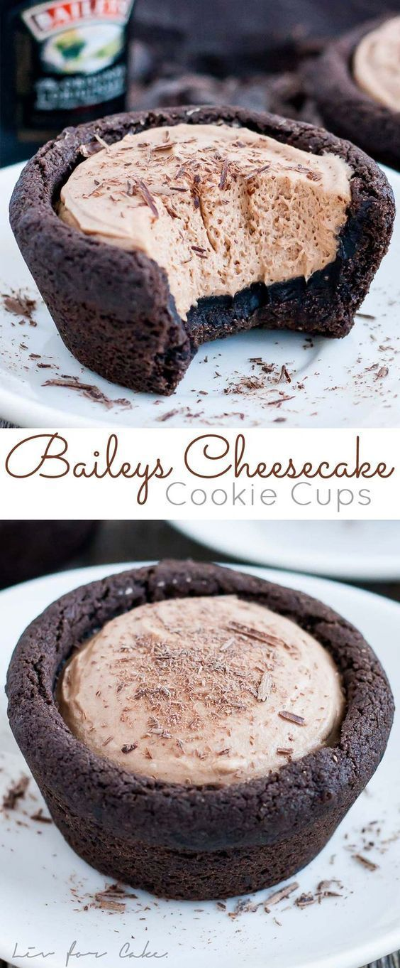 Baileys Cheesecake Cookie Cups