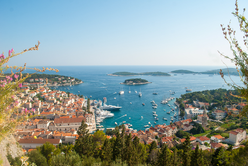 image of the panoramic view of Hvar croatia in the summer
