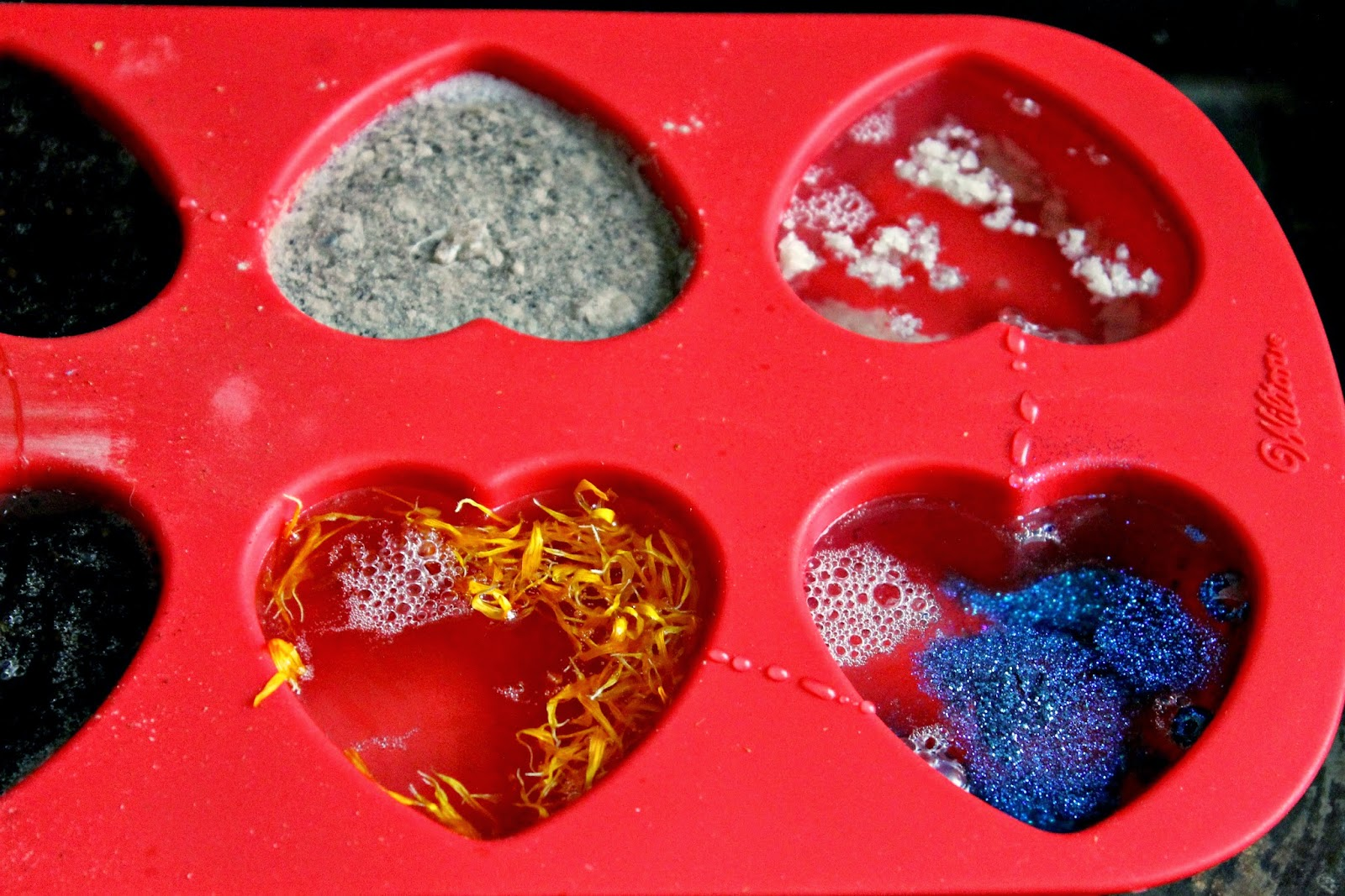 DIY Melt and Pour Glycerin Heart Soaps