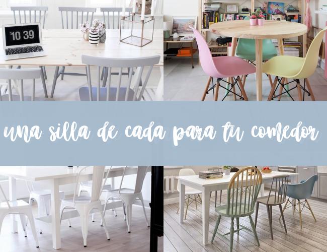 Tendencias que no se van : Una silla de cada color para tu comedor