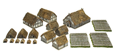 Saxon Village and Enclosure Set