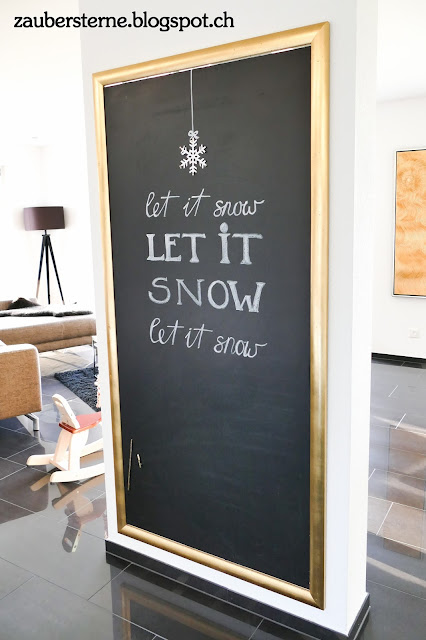 Chalkboard Winter, let it snow, Kreativblog Schweiz, Blog Schweiz