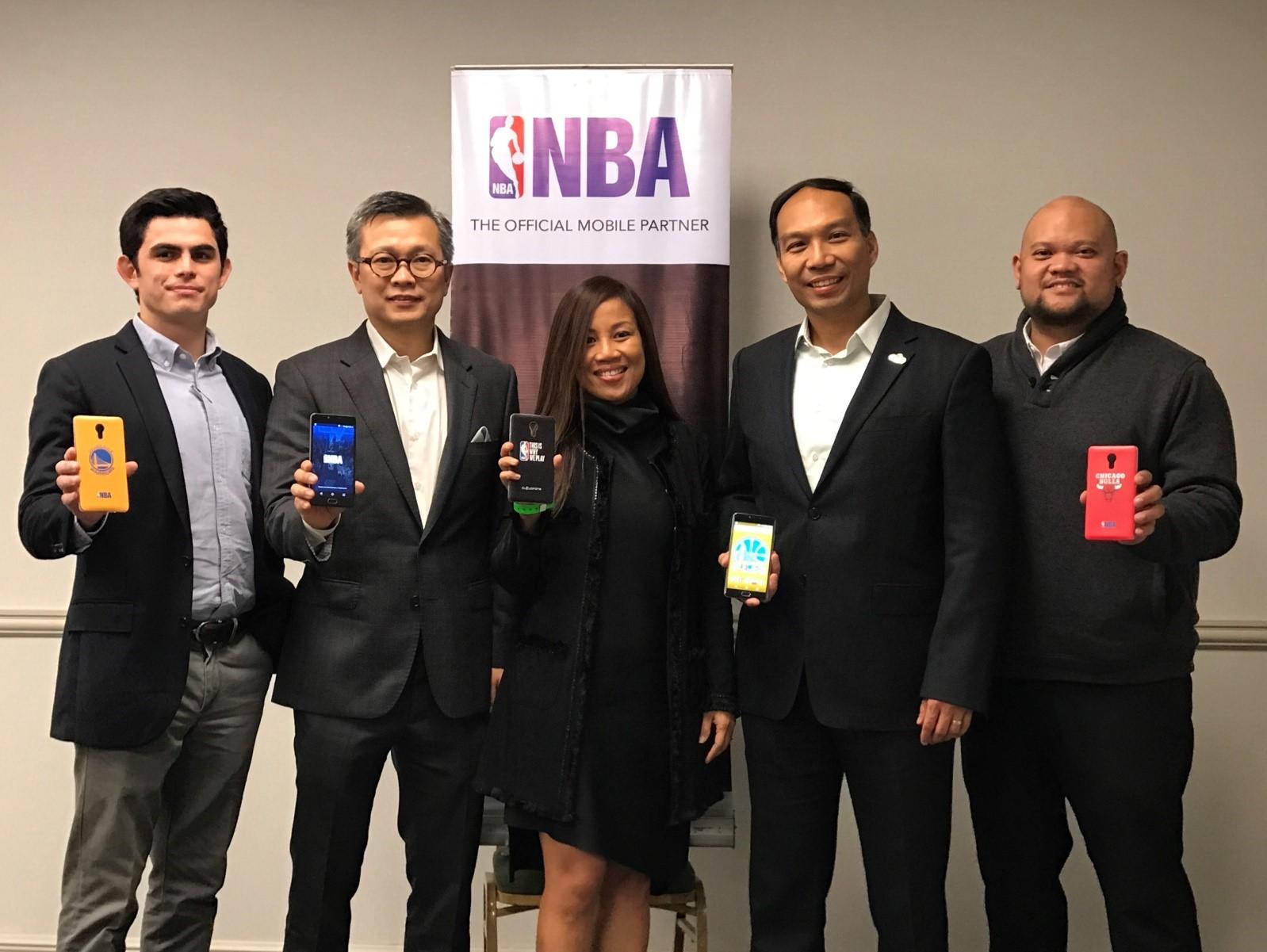 From L R: Jaime Alfonso Zobel De Ayala, Business Development Head Of Globe  Prepaid; Eric Yu, CEO And President Of Cellprime Distribution Corp.; Jil  Go, ...