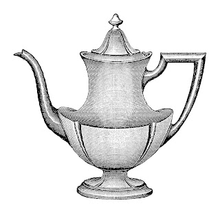 coffee pot image vintage silver