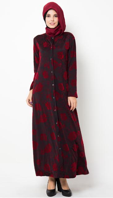 Gambar Model Baju Muslim Batik Gamis