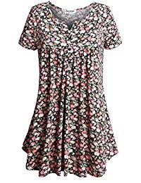 Buy Women's  Short Sleeve V Neck T Shirt Tunic Tops