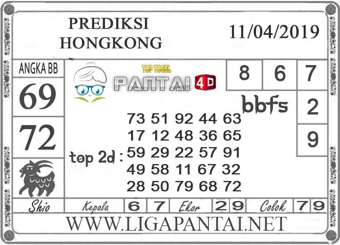 """Prediksi Togel """"HONGKONG"""" PANTAI4D 11 APRIL 2019"""