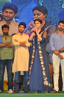 Actress Keerthi Suresh Stills in Blue Long Dress at Nenu Local Audio Launch  0053.JPG
