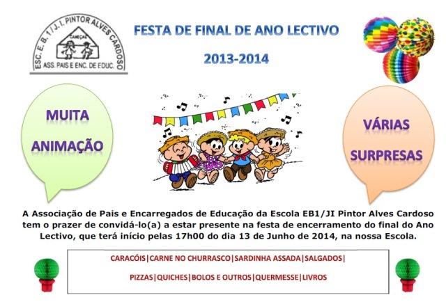 Mensagem De Final De Ano Escolar: Associação De Pais E Encarregados De Educação Da PAC: Maio