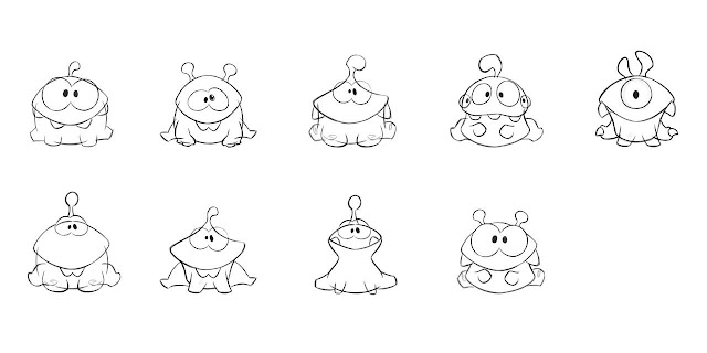 Cut The Rope And Pudding Monsters Initial Graphic Designs And Sketches By Zeptolab