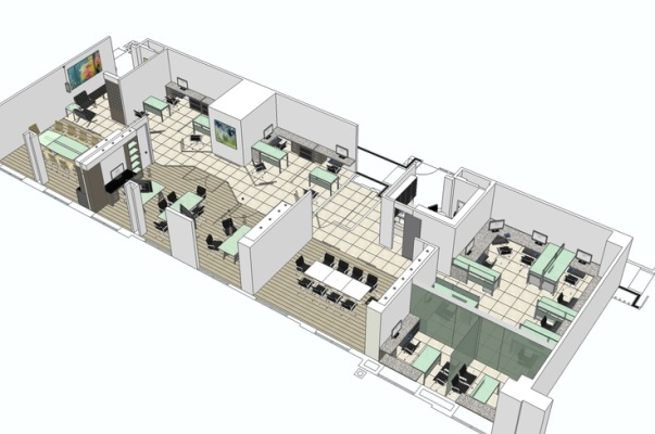 Image gallery office space layout for Office desk layout planner