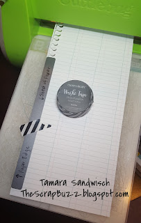Tip for using the notebook edge border thin cuts from CTMH on a Cuttlebug