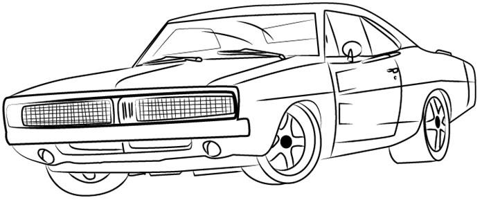 Cara Menggambar Mobil Klasik How To Draw Clasic Car Youtube