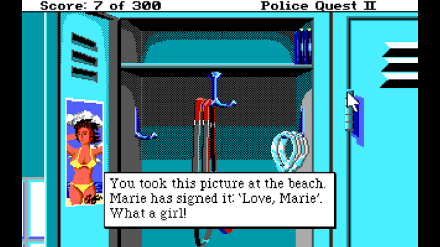 Screenshot from Police Quest II: The Vengeance