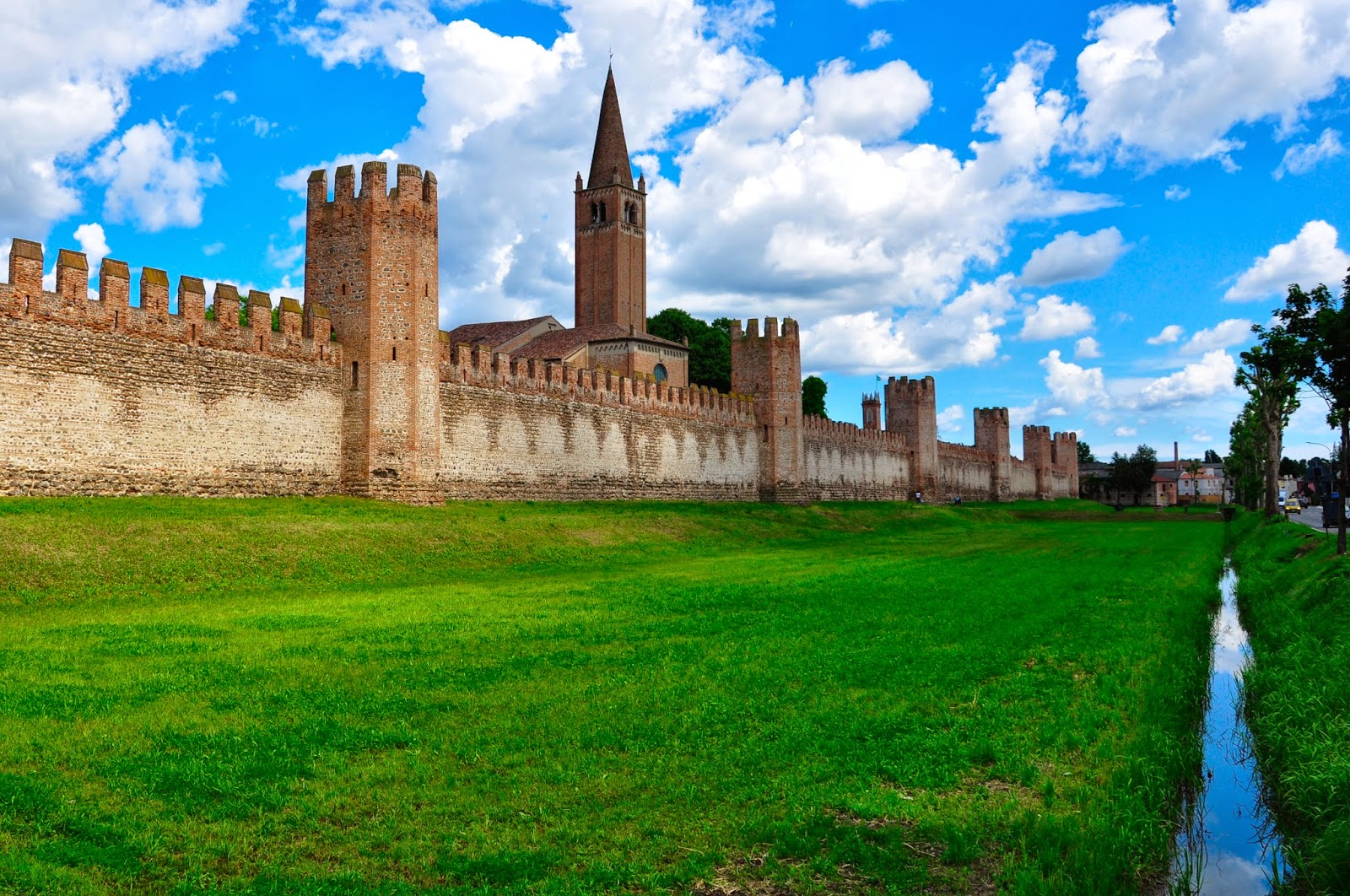The defensive wall of Montagnana, Veneto, Italy