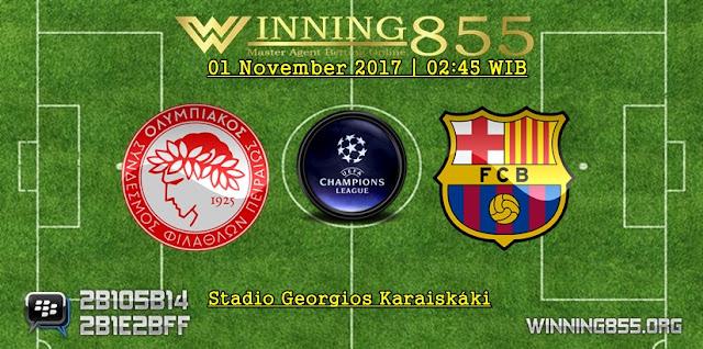 Prediksi Akurat Olympiakos vs Barcelona | 01 November 2017