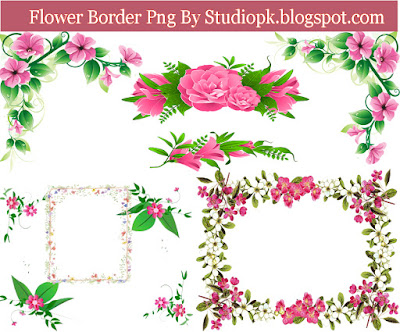 Flower Border Png File