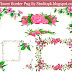 Flower Border Png File With Photo Frames