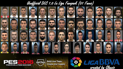 PES 2016 Unofficial DLC 1.0 La Liga Facepack