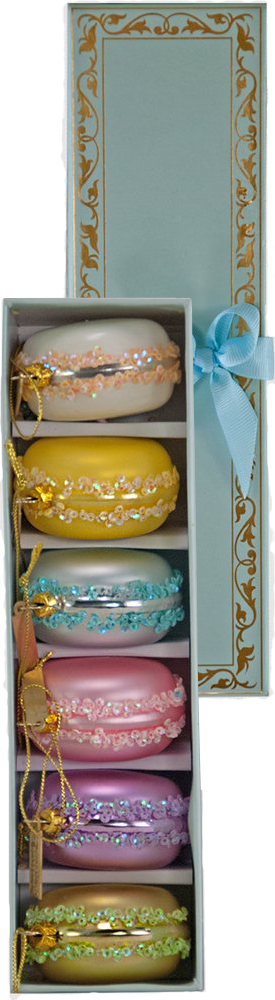 Katherine's Collection Sweet Macaroon Decorations (Box of 6)