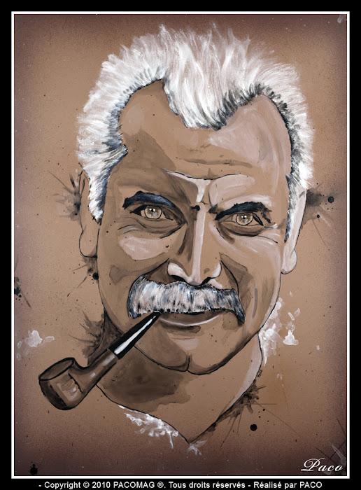 Portrait de Georges Brassens par Paco