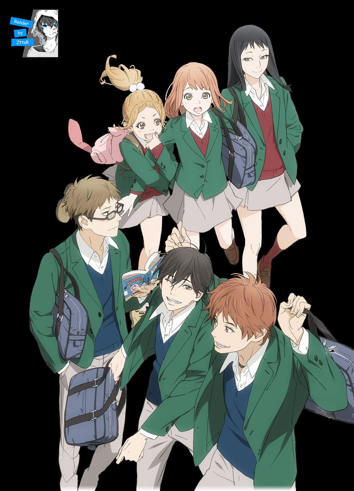 Render Kakeru, Hiroto, Naho, Takako, Saku and Azusa GRUPAL + LOGO