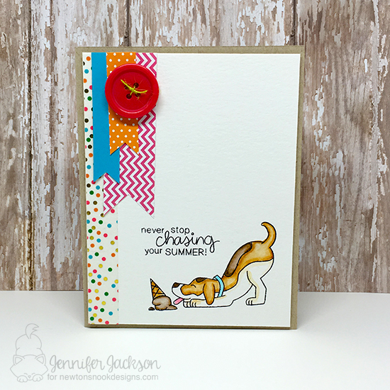 Summer dog and ice cream card by Jennifer Jackson | Dog Days of Summer Stamp set by Newton's Nook Deisgns