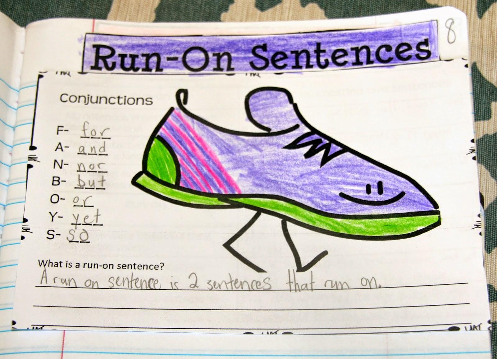 Rockin Resources Writing Mini Lesson 4 Run On Sentences