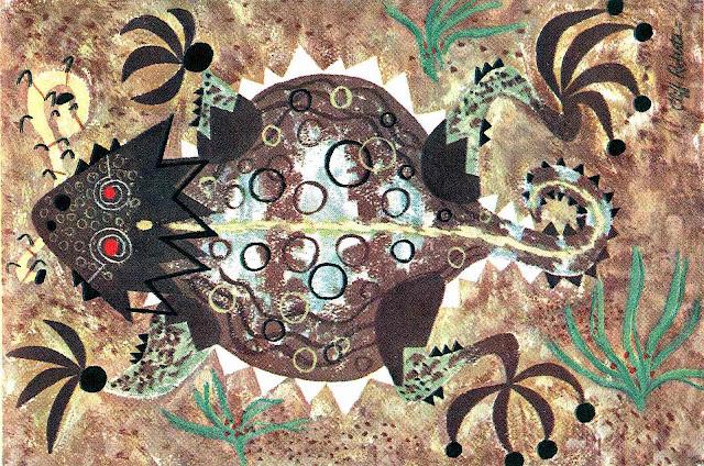 a Cliff Roberts illustration of a lizard