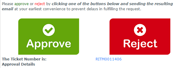 Servicenow Test Dummy Graphic Buttons For Email Approvals