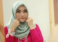 Tutorial Hijab Paris Simple