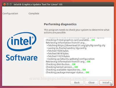 O utilitário da Intel está à procura dos drivers mais recentes para o seu sistema